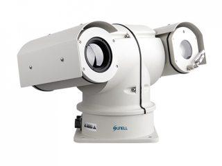กล้องวงจรปิดการตรวจจับอุณหภูมิ CCTV ระบบ ไอพี Thermal IP PTZ